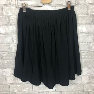 American Apparel // Black Classic Skater Skirt